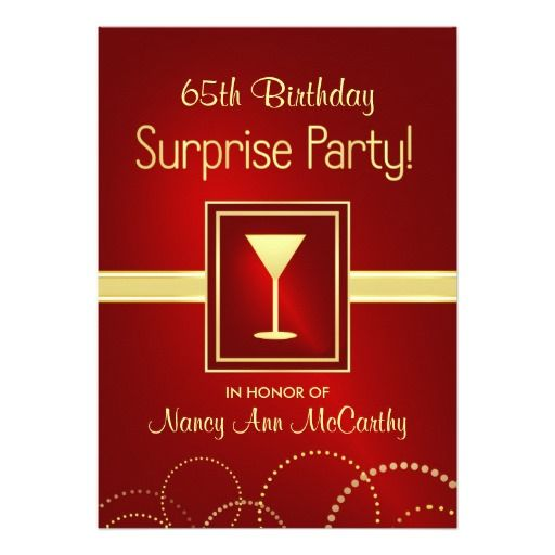 birthday gifts ideas 65th birthday surprise party invitations