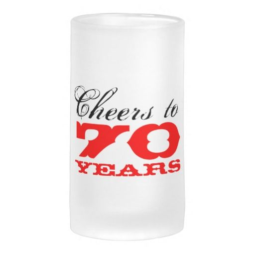 Birthday Gifts Ideas 70th Beer Glass