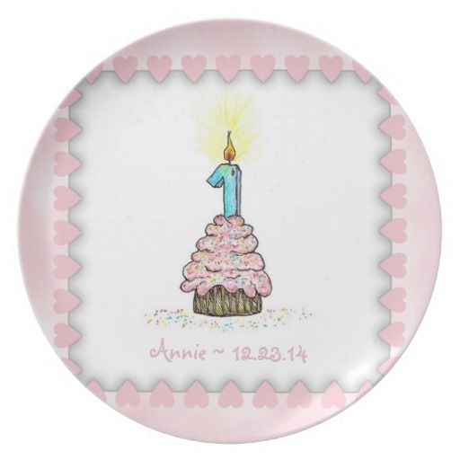 Birthday Gifts Ideas Baby Girl Pink Cupcake First Name