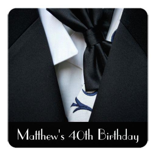 Birthday Gifts Ideas Black Tuxedo Mens 40th Party