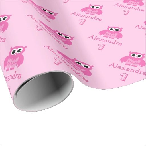 Birthday Gifts Ideas Cute Owl 1st Baby Girl Wrapping