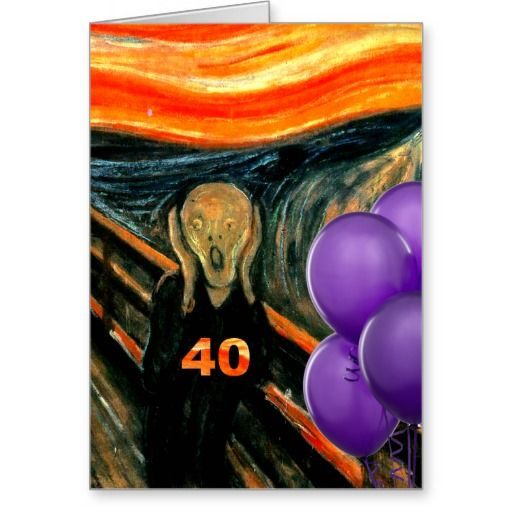 Birthday Gifts Ideas Funny 40th Greeting Card