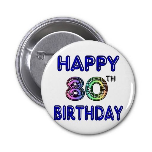 Birthday Gifts Ideas Happy 80th And