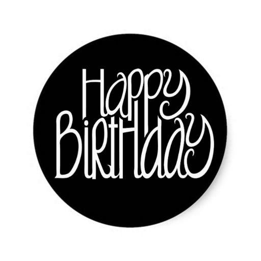 Birthday Gifts Happy Black Sticker