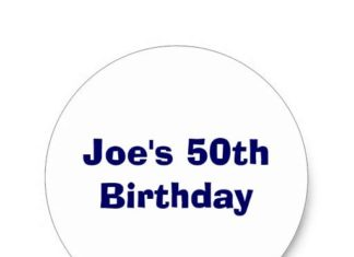 Birthday Gifts Ideas Joes 50th Classic Round Sticker