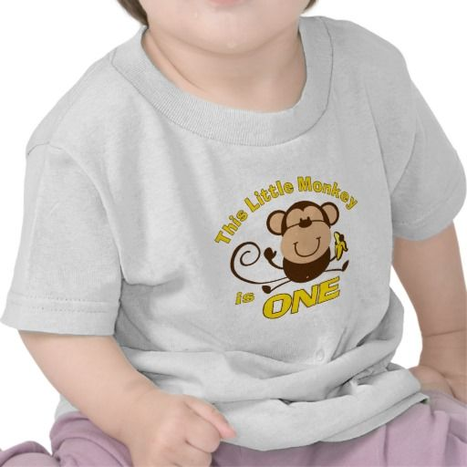 Birthday Gifts Ideas Little Monkey 1st Boy Infant T Shirt