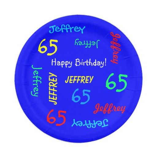 Birthday Gifts Ideas Paper Plates 65th Party Repeating