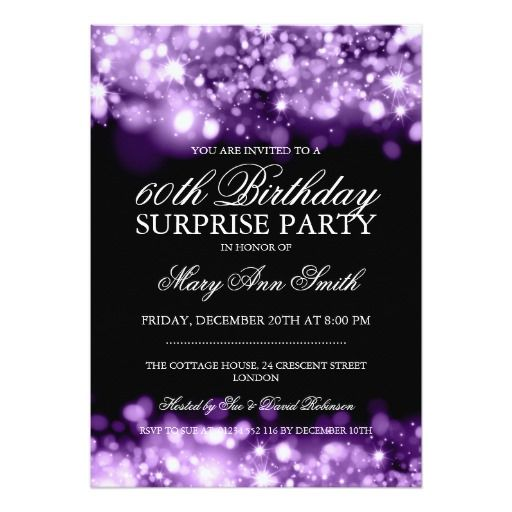 Birthday Gifts Ideas Surprise Party Purple Sparkling