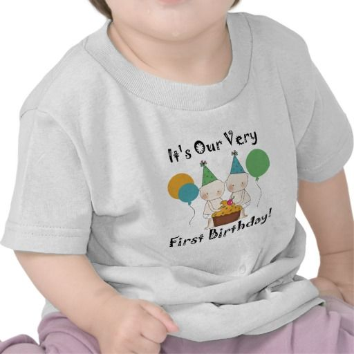 Birthday Gifts Ideas Twin Babies 1st Tshirts And