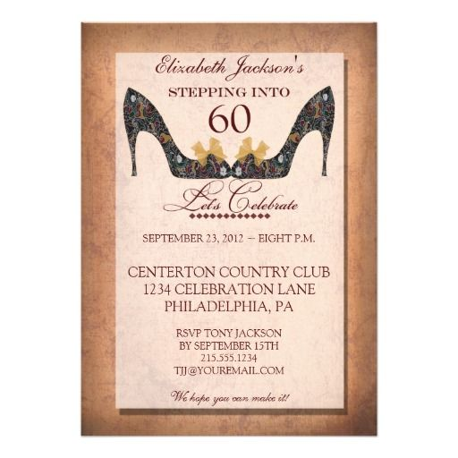 Birthday gifts ideas vintage floral shoe 60th birthday party birthday gifts vintage floral shoe 60th birthday party invitation filmwisefo Choice Image