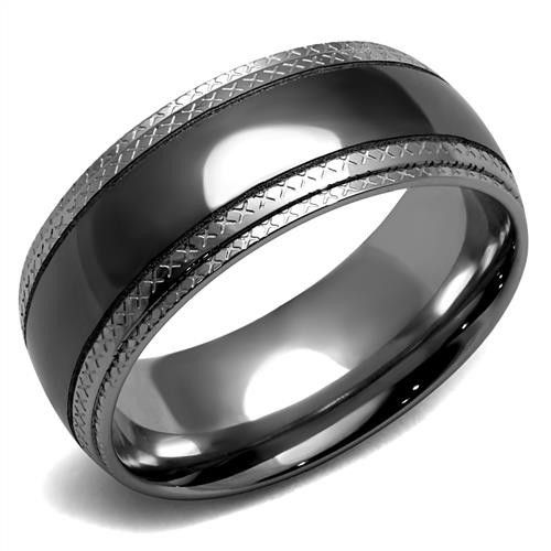 Birthday Gifts Men S Black Grey Stainless Steel Wedding Band Ring