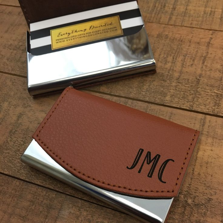 Corporate Gifts Ideas : Personalized business card holder, business ...