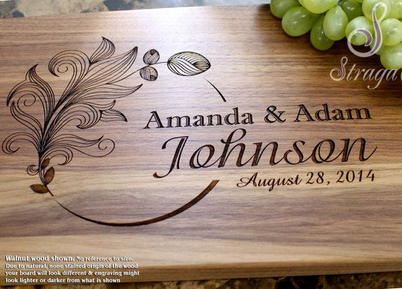 Personalized Cutting Board - Engraved Cutting Board, Wedding Gift, Anniversary G...
