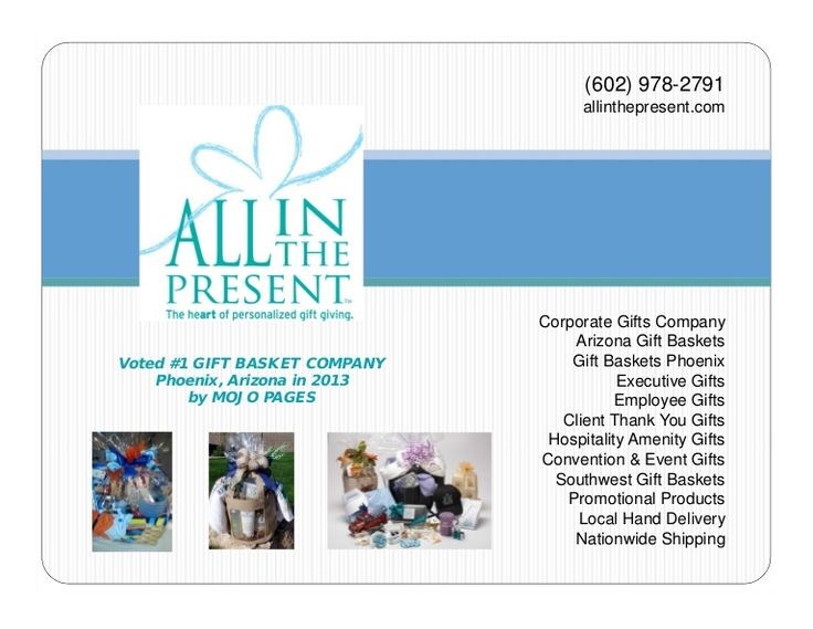 Portfolia of our Corporate Gifts, Arizona Gift Baskets, and Promotional Products...