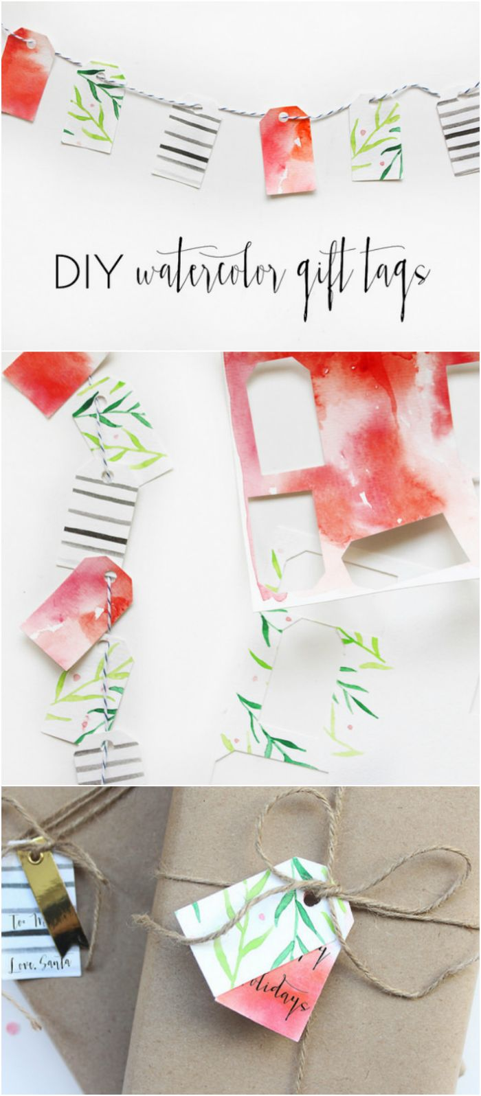 DIY Gift Wrapping Ideas : DIY watercolor tags. See this easy ...