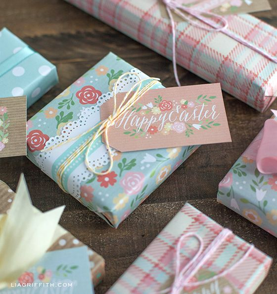 Diy gift wrapping ideas free printable spring and easter wrapping diy gift wrapping ideas negle Gallery