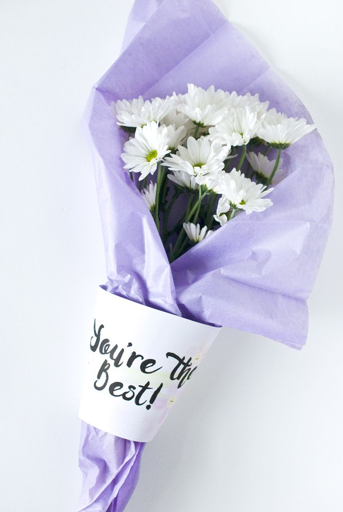 DIY Gift Wrapping Ideas : Printable Fresh Flower Bouquet Wrap ...