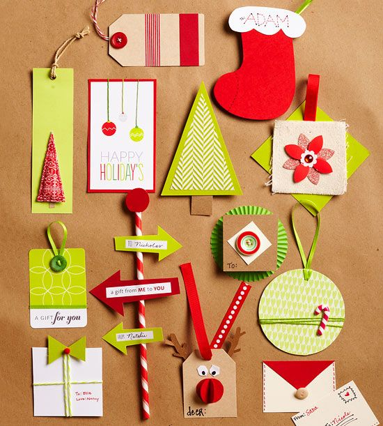 Add extra personality to your homemade holiday food gifts with these fun, season...