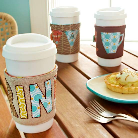 Coffee Cup Cozy - Makes a great handmade gift. Personalize based on your friend&...