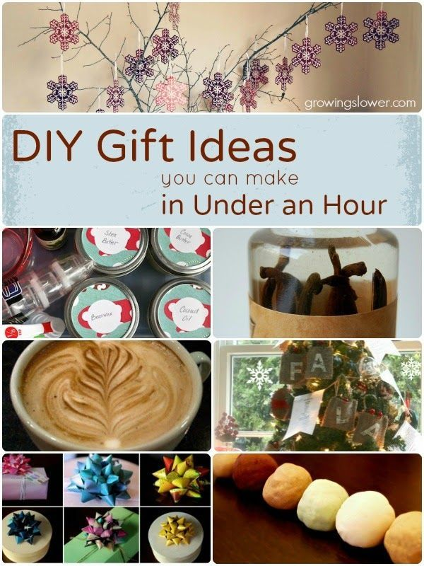Diy gifts diy gift ideas you can make in under an hour for Gift ideas you can make