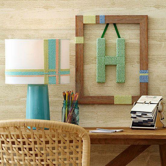 Make this inexpensive Framed monogram as a Christmas gift: Embellish a flat fram...