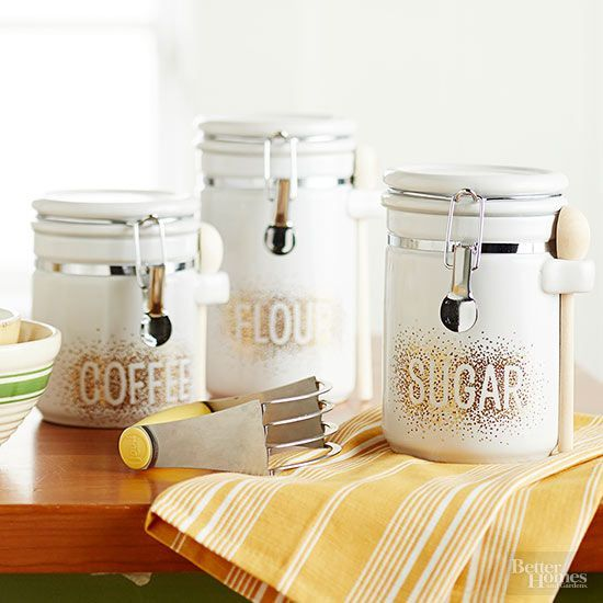 Decorate plain canisters to make a personalized handmade gift that looks anythin...