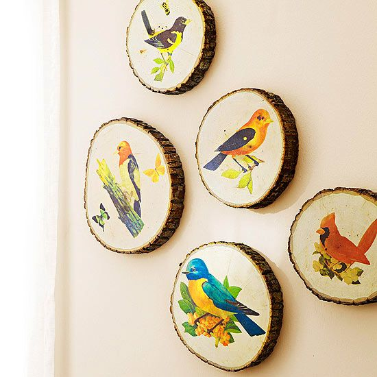 Reminiscent of souvenir log art, this display combines rustic charm and vivid co...