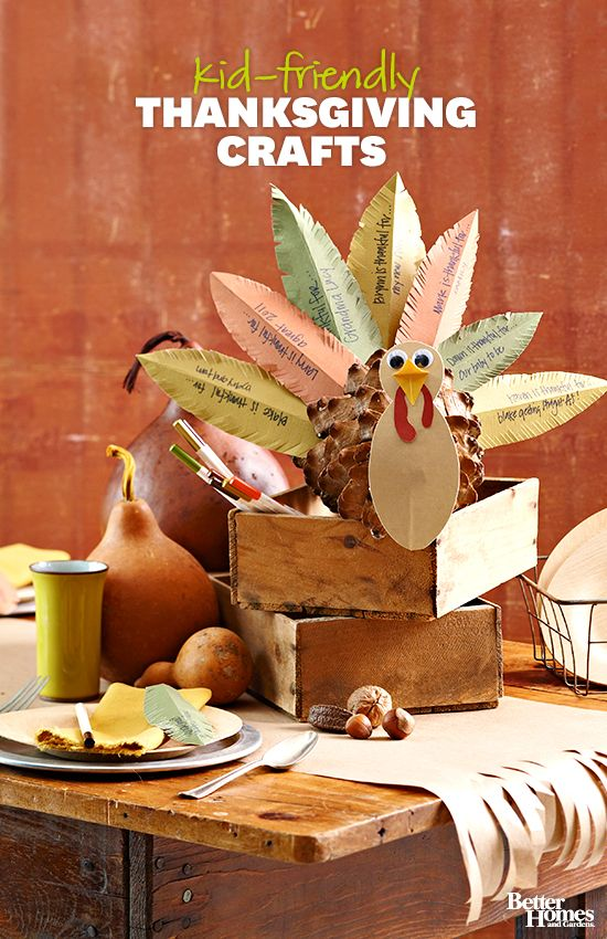 Your kids will love these easy-to-make Thanksgiving crafts: www.bhg.com/...