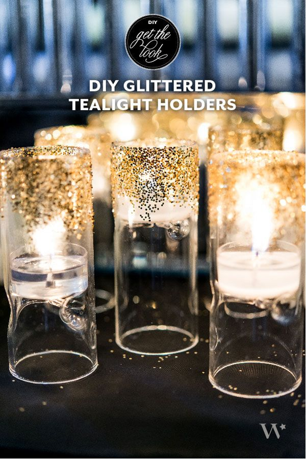 Diy wrapping gifts inspiration beautiful glittered tealight diy wrapping gifts inspiration solutioingenieria Image collections