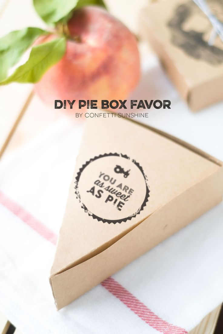 DIY Wrapping Gifts Inspiration : DIY pie box party favors - so cute ...