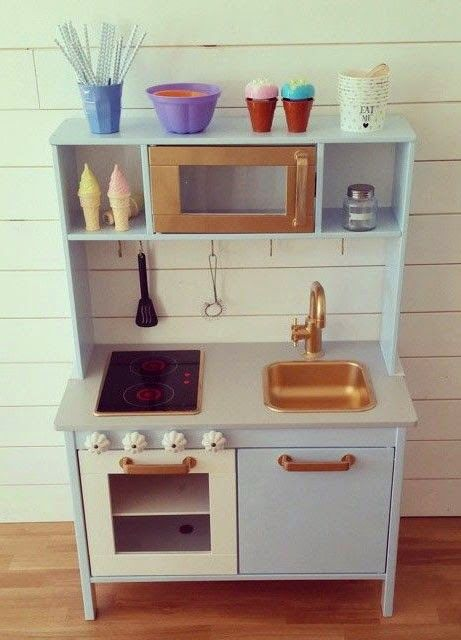 Great DIY Wrapping Gifts Inspiration. Mommo Design: IKEA HACKS U2013 Play Kitchen  Makeover