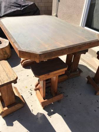free giveaway solid redwood patio table costa mesa