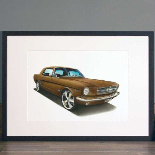gifts for him ideas bespoke illustrated car portrait home of gifts. Black Bedroom Furniture Sets. Home Design Ideas
