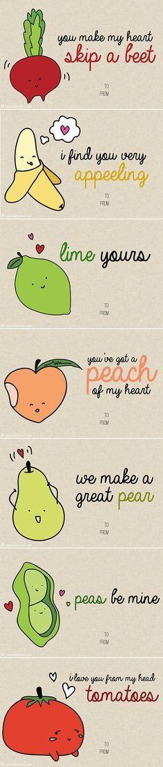 Valentines Day Gifts 10 Printable V Day Cards With Food Puns So