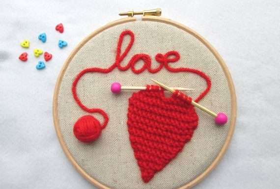 Valentines gifts archives giftsdetective home of gifts valentines day gifts embroidery hoop art knitted heart hoop valentines day gift heart decor negle Gallery