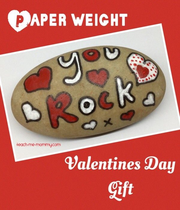 Valentines day gifts paper weight rock valentines day for Perfect valentines day gifts