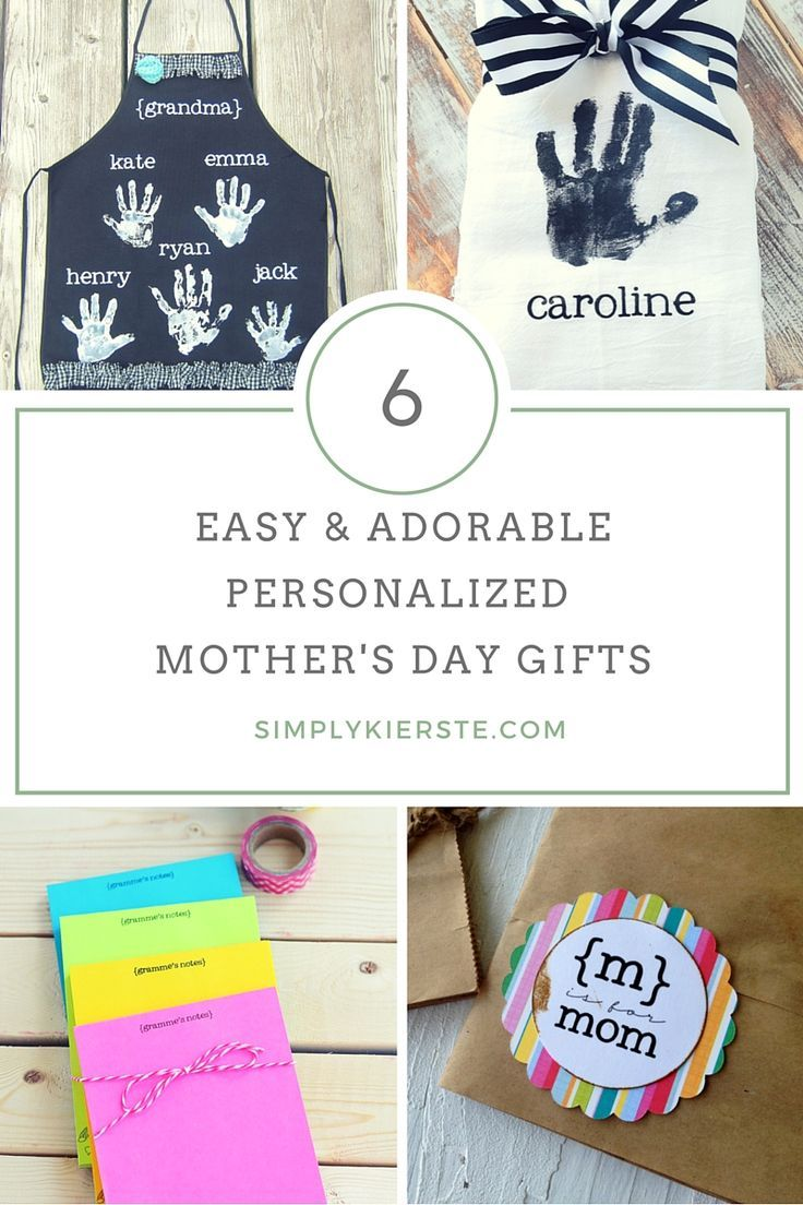 These personalized and handmade Mother's Day ideas are easy & adorable, and feat...