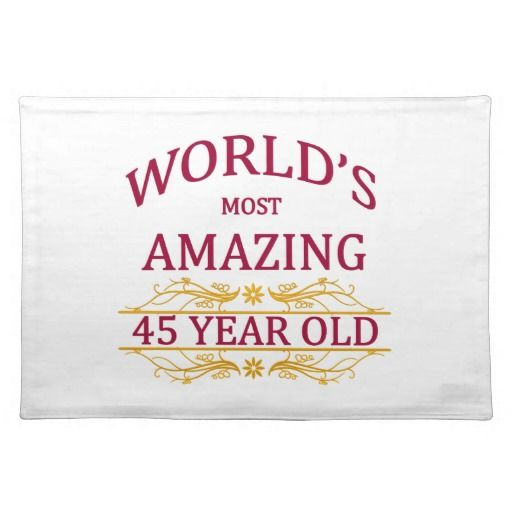 Birthday Gifts Ideas 45th Place Mats