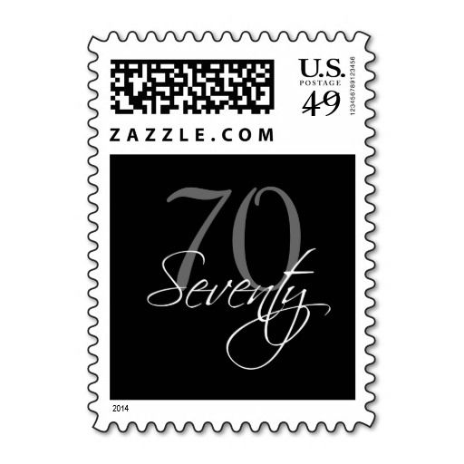 Birthday Gifts Ideas Black Grey White 70th Party Postage