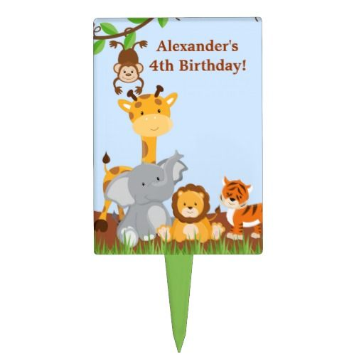 Birthday Gifts Ideas Cute Safari Jungle Animal Boy