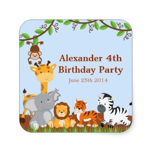 Birthday Gifts Ideas Cute Safari Jungle Animall Boy