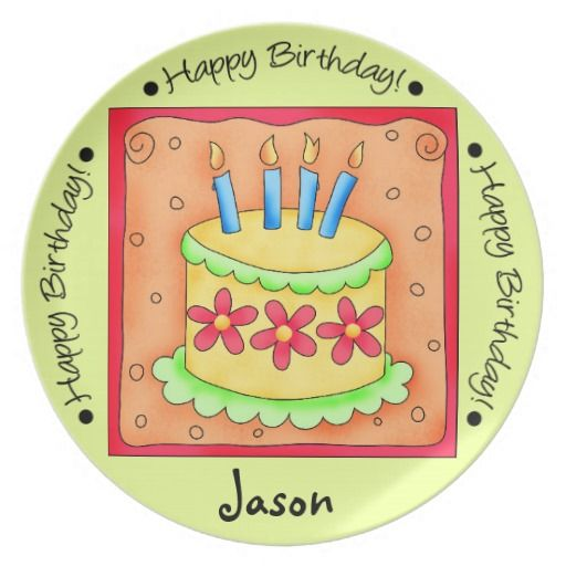 Birthday Gifts. Lime Green and Orange Happy Birthday Cake Plate  sc 1 st  GiftsDetective.com & Birthday Gifts Ideas : Lime Green and Orange Happy Birthday Cake ...
