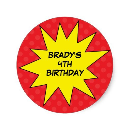 Birthday Gifts Ideas Red Save The Day Superhero Custom Round