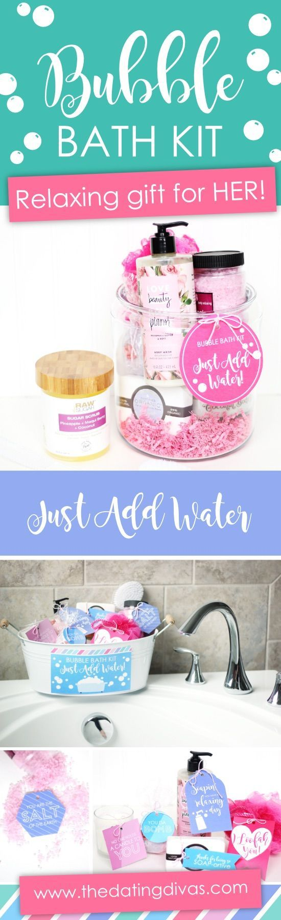 Diy Gifts Ideas Bubble Bath Relaxing Gift For Mom So Easy To Put