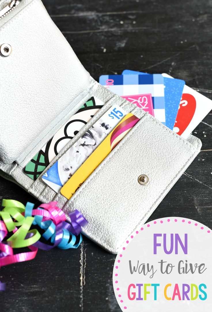 DIY Gifts Ideas : Creative Gift Card Holder IdeasGift Card WalletA great way to give gift
