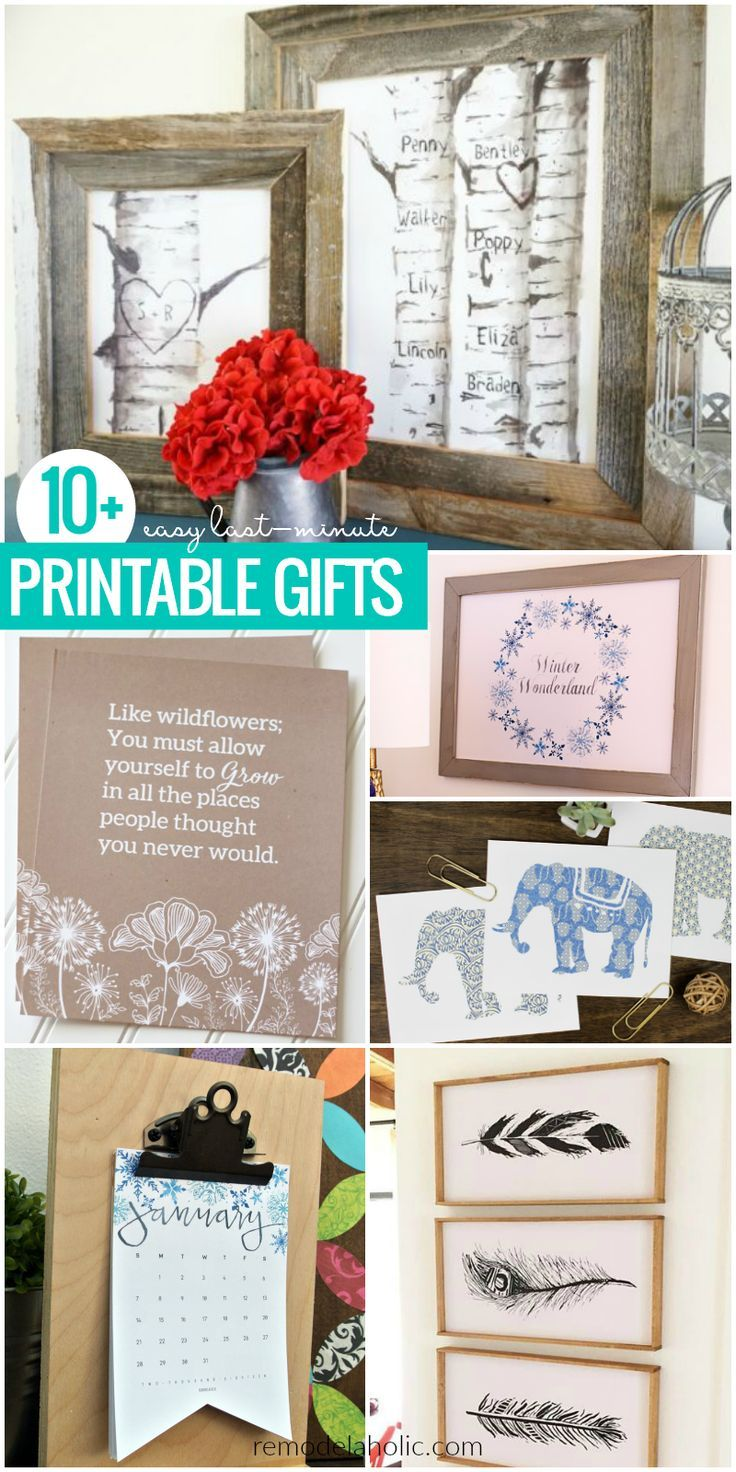 Diy Gifts Ideas Easy Last Minute Printable For