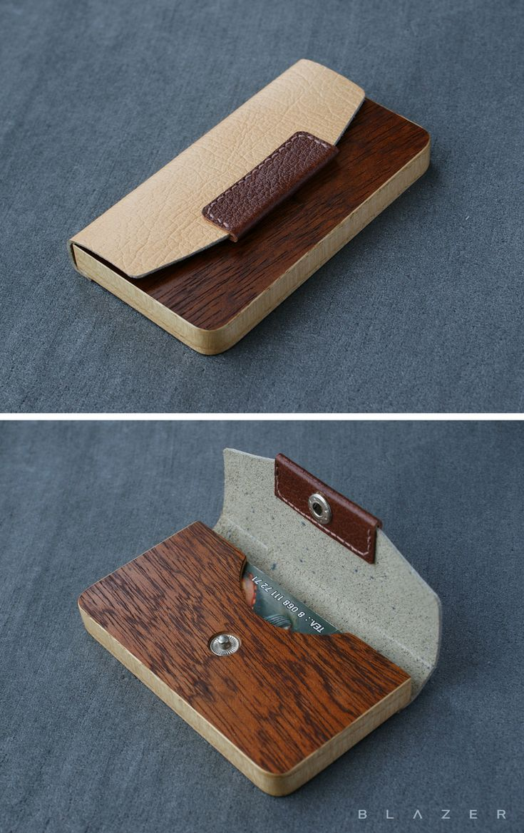 Mother\'s Day Gift Ideas : BLAZER LUXURY wood business cardholder for ...