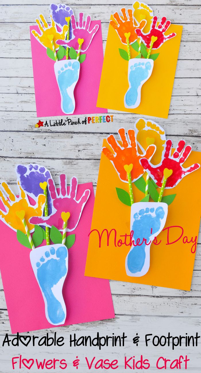 Mom Birthday Gifts Adorable Hand And Footprint Mother S Day Gift