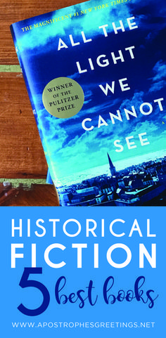 The 5 best Historical Fiction books for your book club to read. #historicalbooks...