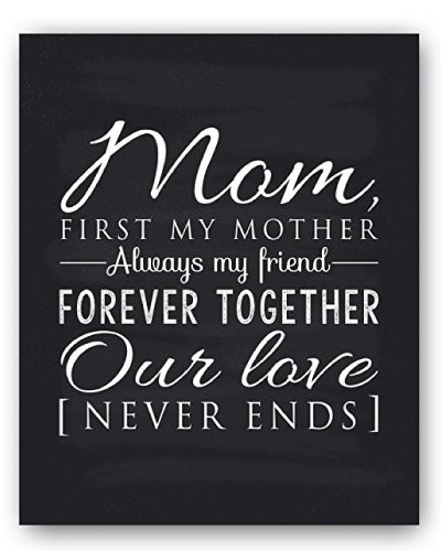 """Mother\'s Day Gift Ideas : Mom Quotes Chalkboard Decor. Reads """"Mom ..."""